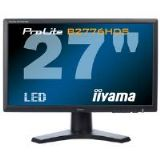 Iiyama ProLite B2776HDS 27 inch LED Backlit LCD Monitor 1200:1 300cd/m2 1920x1080 1ms D-Sub/DVI-D/HD